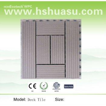 wpc decking tile, wpc flooring board(CE ROHS ISO)
