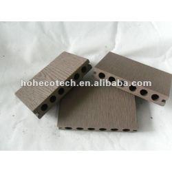浮彫りになる表面HOH Ecotech 138X23の円形の穴WPCの木製のプラスチック合成のdeckingか床タイル