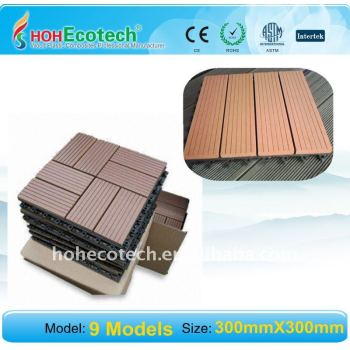WASHING room sanna board WPC outdoor tile flooring Wpc Decking Tile
