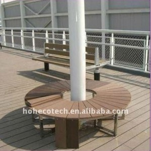 Pública de construcción a prueba de agua plástico de madera wpc decking compuesto/suelo ( ce, rohs, astm, iso 9001, iso 14001, intertek )