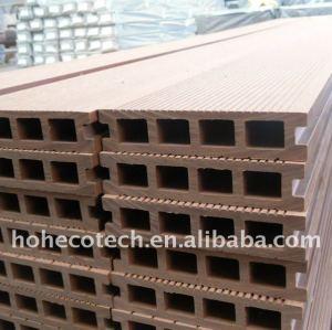 Hollow design! Exterior de material de construção wpc decking composto plástico de madeira pisos