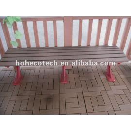 Plastic wood park bench (HDPE and cast aluminum)