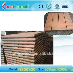 le decking en bois couvre de tuiles la tuile extérieure de titre de WPC parquetant la tuile composée imperméable à l'eau