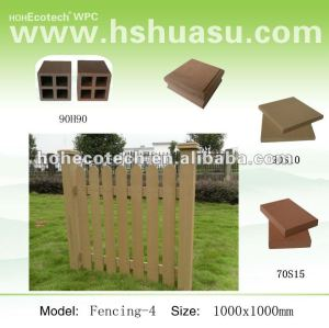 Outdoor WPC fencing /garden border fence/artificial garden fence decoration