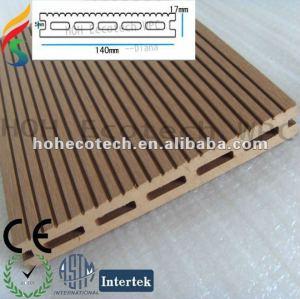 140*17mm Ligtest Wood Plastic Composite pontoon WPC decking /marina flooring/marine composite decking