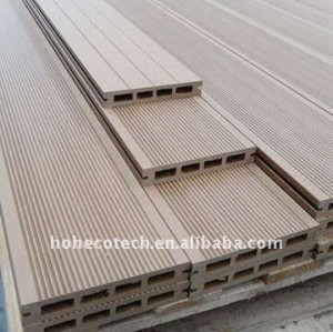 Decking de bois dur de plancher de wpc de decking du prix usine de garantie de QUALITÉ WPC