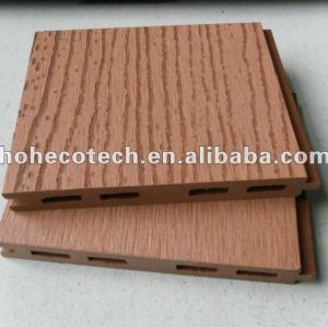 Decking de HOH Ecotech 125x15 WPC/carrelage composés en plastique en bois extérieurs gravants en refief