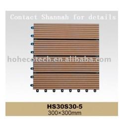 木質プラスチック複合材デッキタイル/連動フロアタイル- 容易なインストール