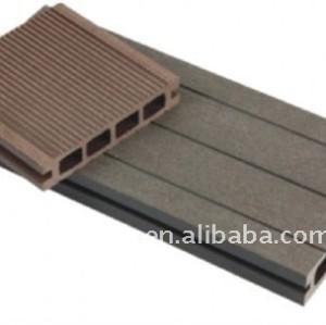 la luz modelo hueco wpc suelo junta de plástico de madera decking compuesto suelodebambú