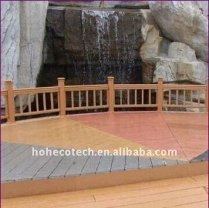 decking/plancher composés en plastique en bois imperméables à l'eau PUBLICS de la construction WPC de balustrade de wpc