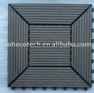 Tuile decking de wpc/extérieur. platelage./rez de jardin/copmosite wood plastic decking