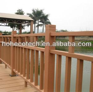 Wood plastic composite rails, railings in balcony wood