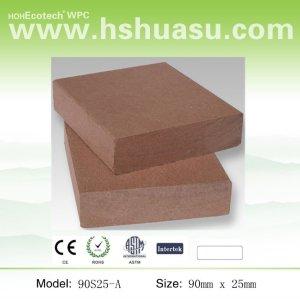 composto plástico de madeira deckings