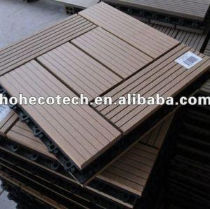 Wpc decks et terrasse/sensation naturelle de bois plastique composite decking conseils/éco.- amicalequalité platelage./carrelage brun foncé
