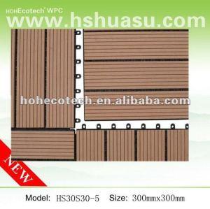 Tuiles du decking tile/DIY de couplage de WPC pour la salle de bains/arrière-cour/balcon
