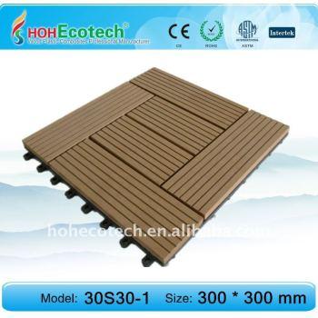 Supermarket DIY tile decking/floor tile eco-friendly wood plastic composite