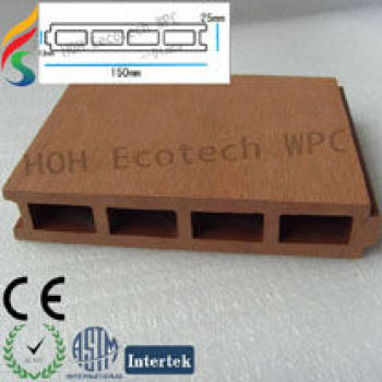 100% recycle composite decking 150H25