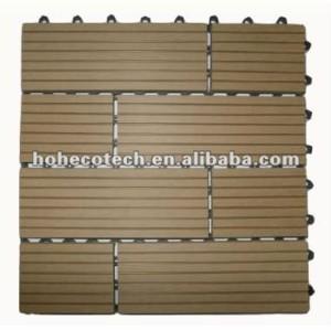 Деревянные пластичные составные плитки decking для сада/балкона /backyard/courtyard