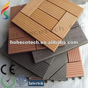 decking di decking composito poco costoso/mattonelle di pavimento compositi di plastica di legno ecologici