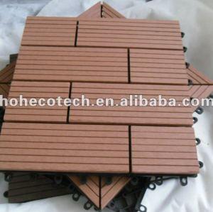 le decking de verrouillage de wpc de 300x300mm couvre de tuiles des tuiles de decking du wpc DIY