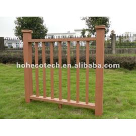 High recyclable and Water resistant wpc (Wood plastic composite) wpc stair railing/garden railing/playground railing/guard rails