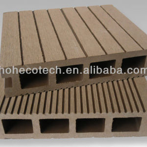 Anhui Ecotech WPC hollow outdoor decking 140*30mm CE Rohus ASTM ISO 9001 approved