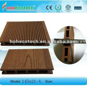 New design 145mmx21mm size outdoor WPC decking (durable,economic,waterproof,long lifespan)