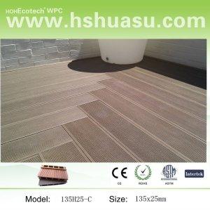 plancher extérieur composé en plastique en bois
