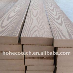 Le decking composé en plastique en bois gravant en refief de Decking extérieur de WPC couvre de tuiles le decking de vinyle
