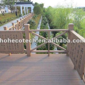 Eco de madeira natrual ( composto plástico de madeira ) corrimão da escada wpc/ trilhos jardim/ playground trilhos/ guarda trilhos/ margem do rio trilhos