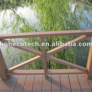 Eco - friendly ( composto plástico de madeira ) wpc ao ar livre decorativa corrimão/ corrimão da escada/ guarda trilhos/ ferroviário jardim/ margem do rio trilhos