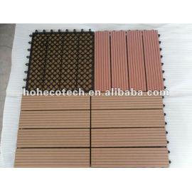 Eco-friendly wood plastic composite decking/floor tile Interlocking deck tile DIY wpc composite decking