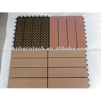 Eco-friendly wood plastic composite decking/floor tile Interlocking deck tile DIY wpc composite decking