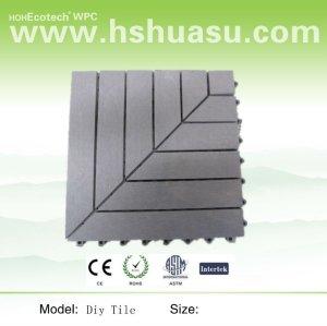 DIY wpc tile flooring sauna board