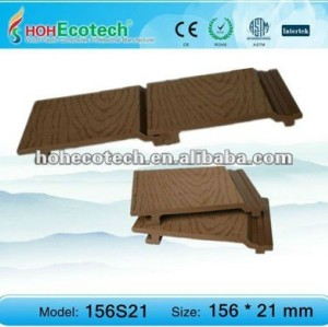 Eco-friendly popular plastic wood composite wall cladding/outdoor wall panels
