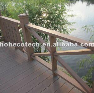 деревянный пластичный составной wpc открытый перила ограёдений/берег реки перила