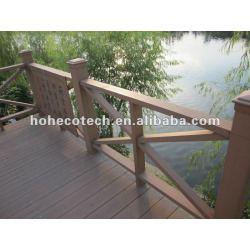 木製のプラスチック合成のwpcの屋外の柵の監視柵または河岸の柵