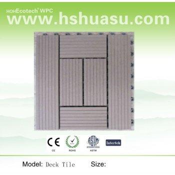 Interlocking DIY deck tile for garden