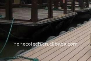 Plancher du wpc imperméable à l'eau extérieur WPC de plancher/decking en plastique composé de decking