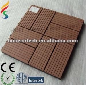 Wpc diy composé en plastique en bois antidérapage de tuile