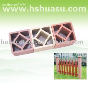 Wpc legno composito di plastica scherma/. Ringhiera post