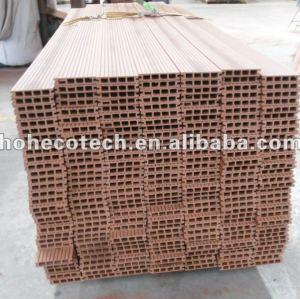Durable venta caliente compuesto plástico de madera suelo al aire libre ( a prueba de agua, resistencia a rayos uv, resistencia a la pudrición y el crack )