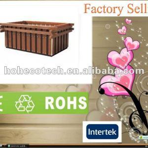 Outside decoration eco-friendly wpc garden flower box/flower pots (CE RoHS)