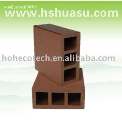 囲うか、または柵で囲む木製のプラスチック合成物