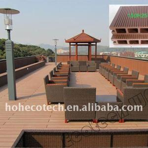 plancher à la mode extérieur de la conception WPC de decking de balustrade de lieux publics composés en plastique en bois de decking