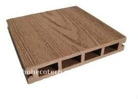 Le decking respectueux de l'environnement de WPC couvre de tuiles le decking composé en plastique en bois de wpc de plancher