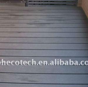 Wpc legno decking composito di plastica/pavimentazione ( ce, rohs, astm, iso 9001, iso 14001, intertek ) wpc decking composito