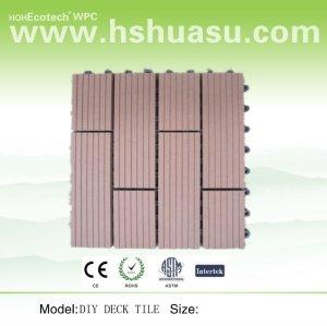 Le Decking de sauna couvre de tuiles 30x30cm