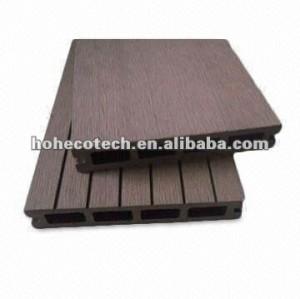 wood plastic composite pisos hollow wpc decking exterior