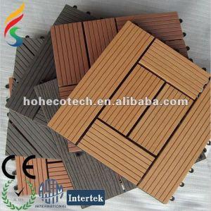 tuile de /bathroom de tuile du plancher tiles/DIY de decking des additifs WPC de produit chimique du HDPE +5% en bois +35% de 60%